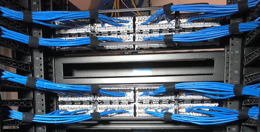 Low Voltage internet wiring cabling wide
